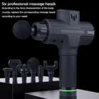 Massage Gun Muscle Massage Gun 2021 Massage Gun Super Quiet 30 Speed Handheld Deep Tissue Percussion Muscle 6 Head Attachments Quick Body Vibration Massage Gun