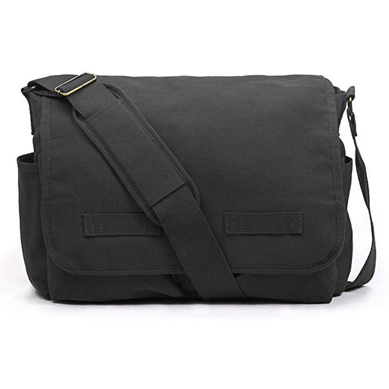 Custom shoulder bag multifunction outdoor canvas shoulder messenger bag sports travel crossbody bag