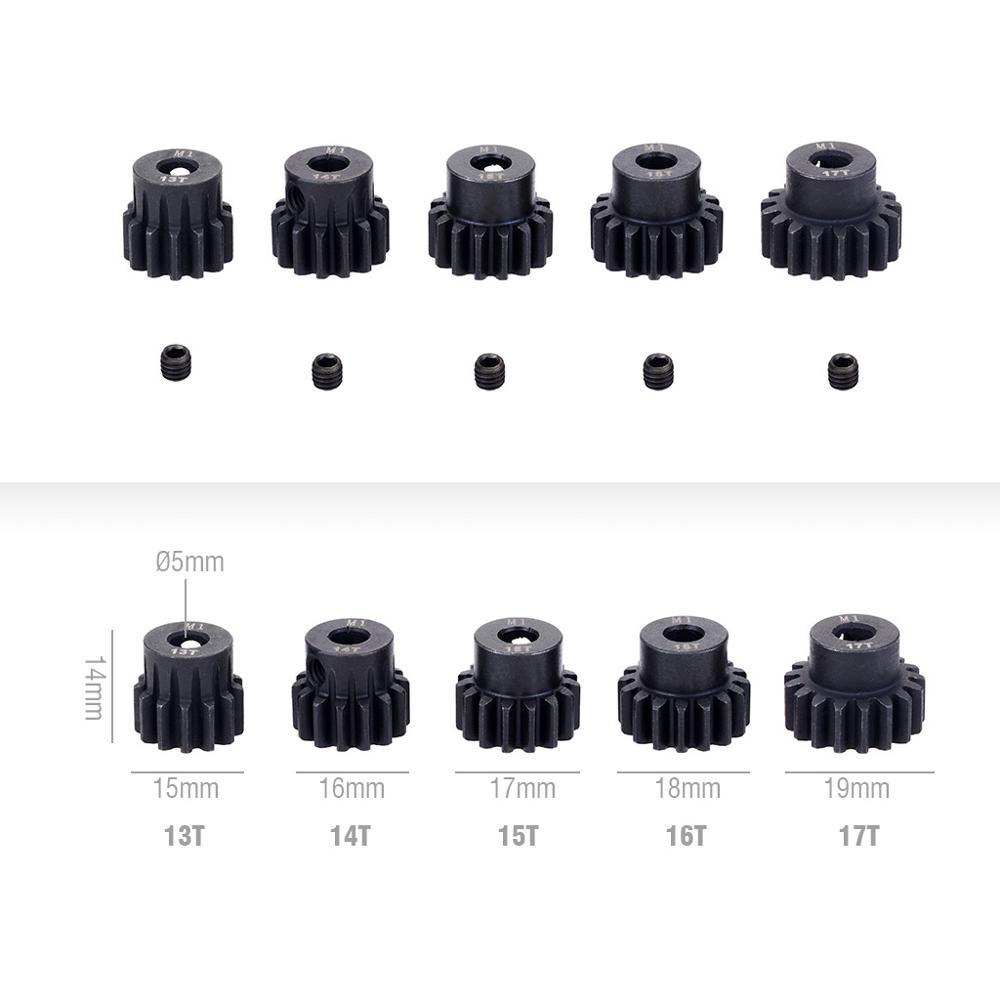 China manufactory M1 13T 14T 15T 16T 17T Customized Metal Spur Gear