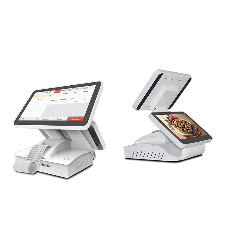 Заводская Премиум 15,6 дюймовая pos-система с двойным сенсорным экраном с термопринтером внутри планшета pos-система для розничной продажи/супермаркета