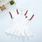 Dress Kids Dresses Children Dress Spring Summer Turn-Down Collar Kids Short Sleeve Dresses Toddler Baby Girls Summer Cotton Polo Dress