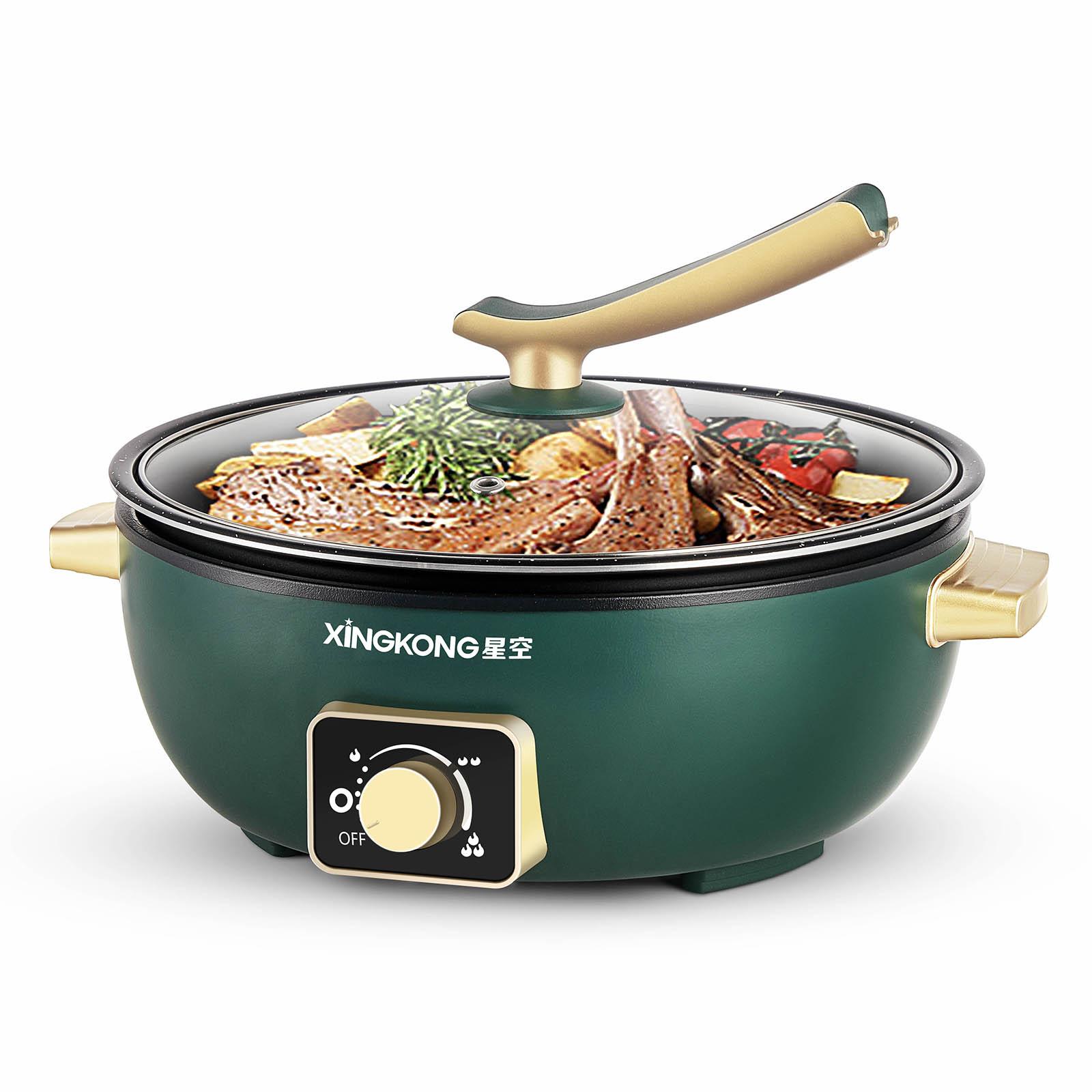 wholesale  6L  aluminum alloy electric skilletn fried small electric hot pot cooking pot electr pan