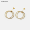 Gold plated earrings-33