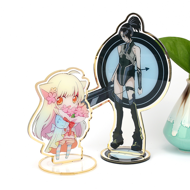 Vograce High Quality Wholesale Custom Shaped Transparent Acrylic Standee Anime For Promotion