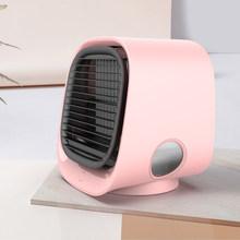 Мини USB отрицательных ионов охладитель воздуха вентилятор кондиционер Светильник Настольный вентилятор охлаждения воздуха увлажнитель оч...(Китай)