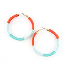 Fashion Jewelry China Iron Hoop twined with thread earring for women