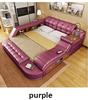 Leather purple