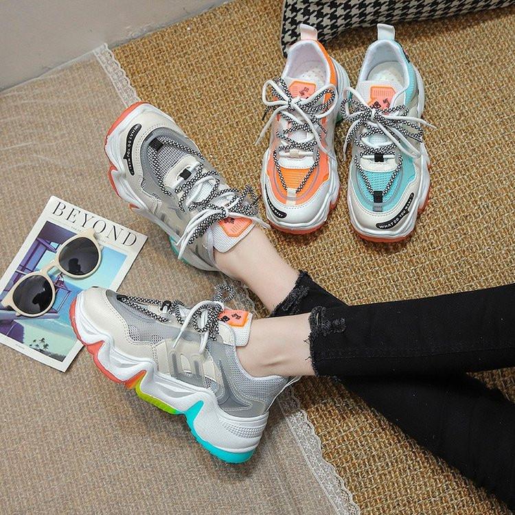Кроссовки женские на шнуровке, повседневная удобная дышащая обувь, большие размеры