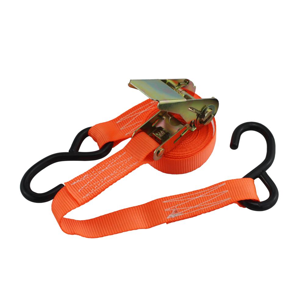 Retailer PVC Rubber Coated 4pcs 25mm 800kg Tie Down Ratchet