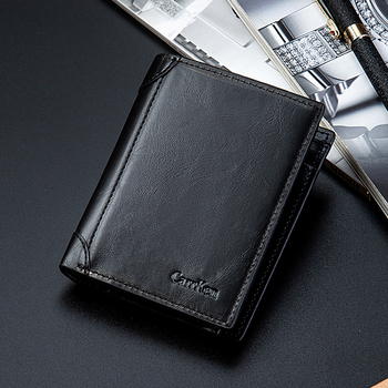men's wallet short loose-leaf multi-card position PU wallet multi-function dollar clip cross-border