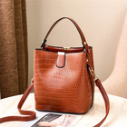 2021 trending custom design hot sell brown pu leather lady hand bags women