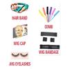 free gifts like wig cap ,eyelash ,hair band ,comb, wig bandage