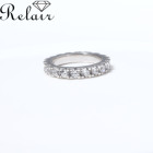 Wedding Rings Beautiful Classic Style Silver Jewelry Cubic Zirconia Hoop Wedding Rings