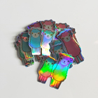 Customized Die Cut Hologram Sticker Sheet Holo Sparkle Sticker