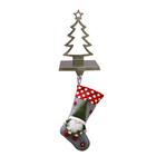 Factory Directly Supplier Christmas Hook Tree Metal Stocking Holder