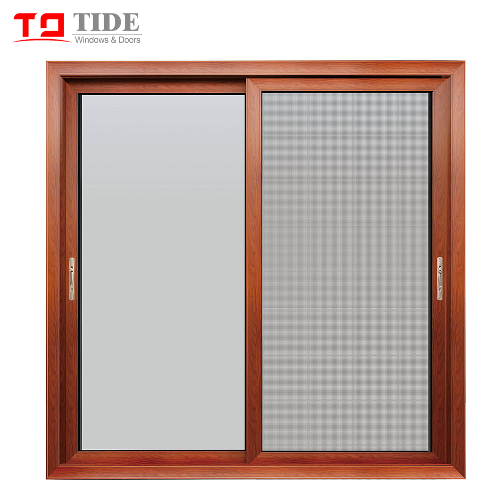 American Style Aluminum Wooden Double Glass Windows With Shutter German  Brand Roto Hardware   Buy Aluminum Sliding Shutter Windows,Wood Window  Price ...