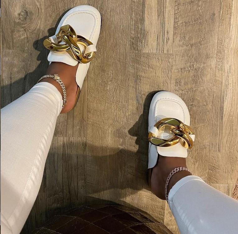 Женские сандалии на цепочке, новый стиль 2021
