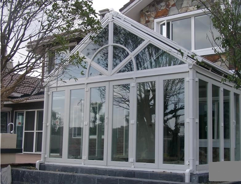 Customized Glass House Aluminum Profile Sound Proof Heat Insulated Tempered Window Door Sunroom