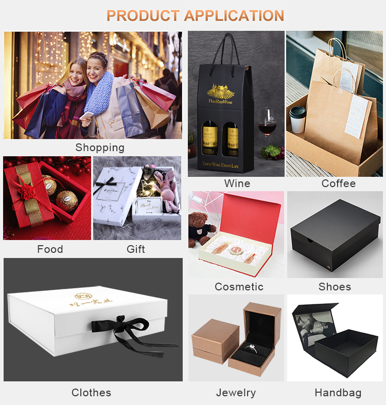 Custom made luxury clothing packaging box wedding dress suits hand bags paper box