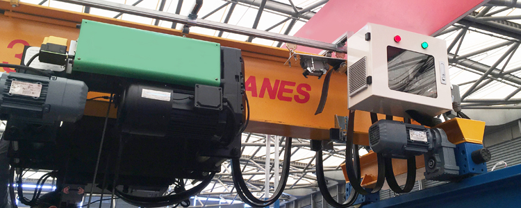 16 ton bridge crane with DRS wheel blocks