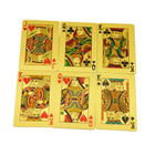 Poker Cards Custom Printing Regular Poker Size Golden Casino Playing Cards Deck With Box High Quality