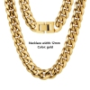 12mm Gold necklace