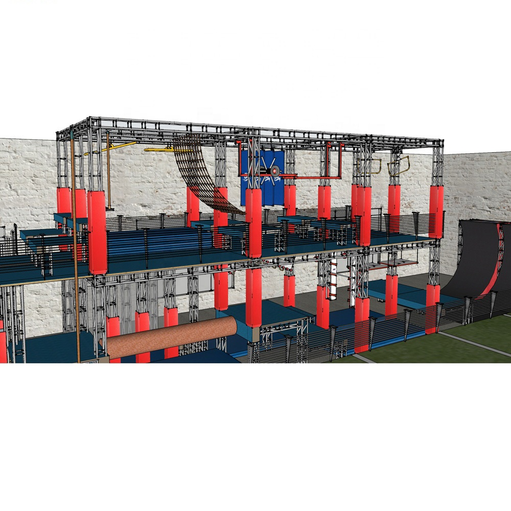 Popular Durable Safety Customized American Obstacle Course Set Kids Ninja Warrior Indoor