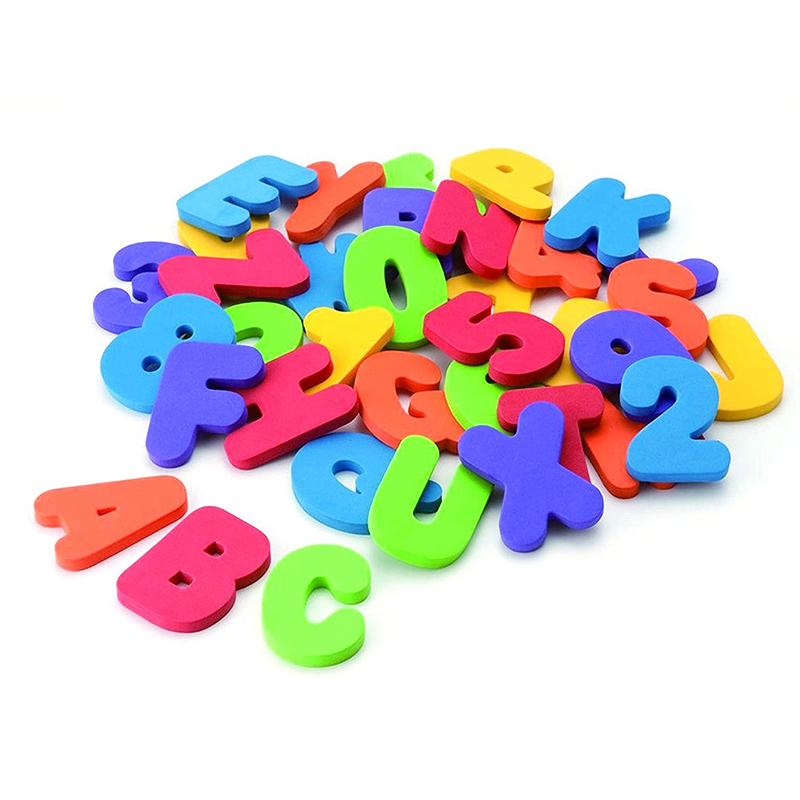 New Wholesale High Quality Baby Bathtub Bath Toys 36 Piece Bath Letters and Numbers Foam Bathroom for Kids