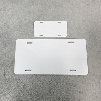 "Novelty Metal pvc masked Single-sided Car Tag Blanks 3"" x 6"" 6""x 12"" Blank License Plate Motorcycle Plate for White Sublimation"
