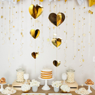 Wedding Optional Three-dimensional Love Ornaments Wedding Valentine's Day Decoration Paper String Garland Pendant Party Decoration