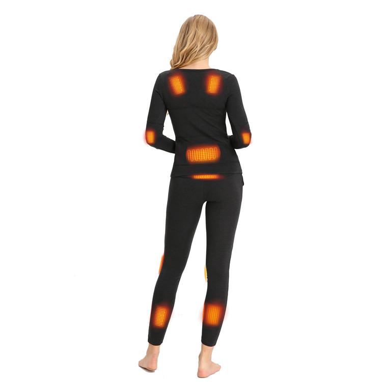 Women Keep Warming thermal Rechargeable Battery long Heated Underwear