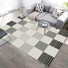 Новый современный геометрический 3-слойный ковер для гостиной, спальни, кухни, ванной, моющийся, защита от плесени, защита пола(Китай)