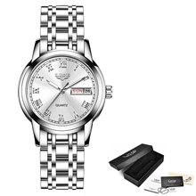 LIGE новые высококачественные женские часы роскошные розовые золотые черные водонепроницаемые часы из нержавеющей стали женские классическ...(Китай)