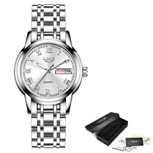 Женские часы, простые часы из нержавеющей стали LIGE, повседневные модные часы, женские спортивные водонепроницаемые наручные часы, женские ч...(Китай)
