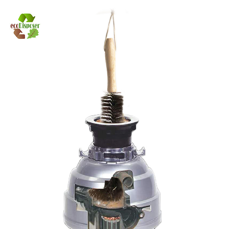 Universal Garbage Disposal Brush Sink Dispenser Cleaning Brush Drain Garbage Disposal Cleaner Flexible Sink Cleaning
