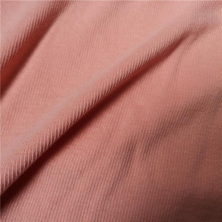 Spandex Rib 2*2 Ribbed Cotton Fabric