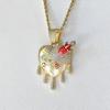 "gold pendant+16"" Chain"