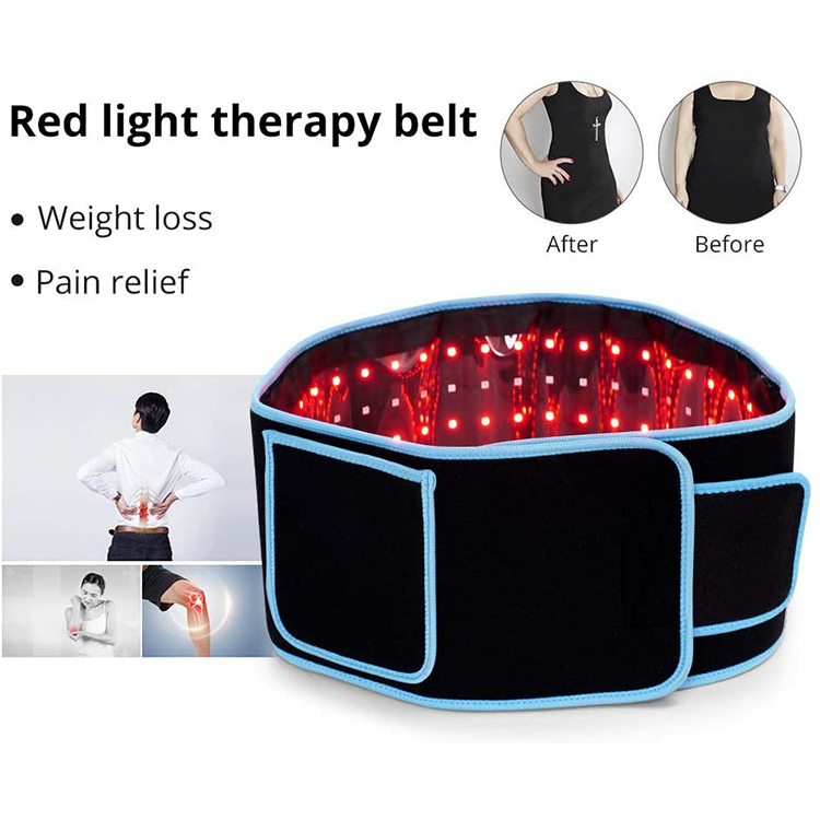 Manufacturers Weight Loss Infra 635Nm 850Nm Waist 160Mw Red Light Therapy Weight Loss Belt