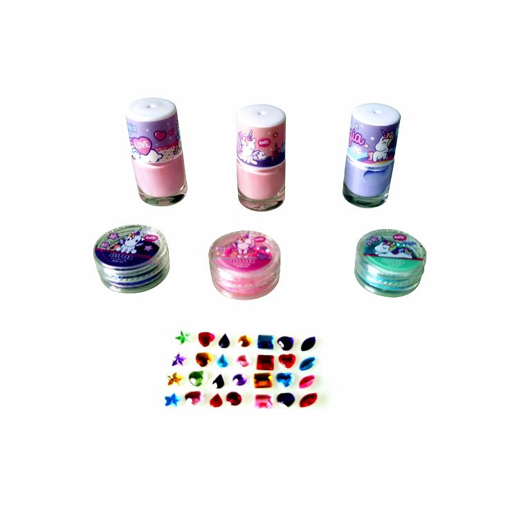 Popular kids cosmetic set makeup set nai polish set for kids