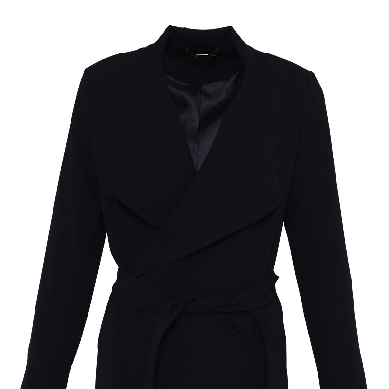 Huiquan, современный дизайн, оптовая продажа, женское уютное повседневное пальто с открытой спиной, легкий тренч для женщин