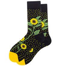 Хлопчатобумажные забавные носки для женщин и мужчин, новинка 2020 года, милые осенне-зимние новогодние носки с Санта-Клаусом, рождественскими...(Китай)
