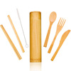 20cm spoon fork knife chopstick straw brush set