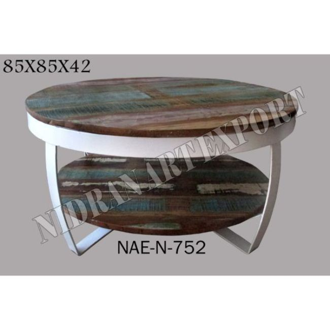 Industrial Vintage Iron Metal Reclaimed Wood Double Top Round Coffee Table Buy Metal Round Table With Wood Top Hammered Metal Coffee Table Round Wrought Iron Coffee Table Product On Alibaba Com