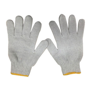 Wholesale 100% cotton glove Knitted Cotton Gloves Protective Industrial Work Gloves for Men