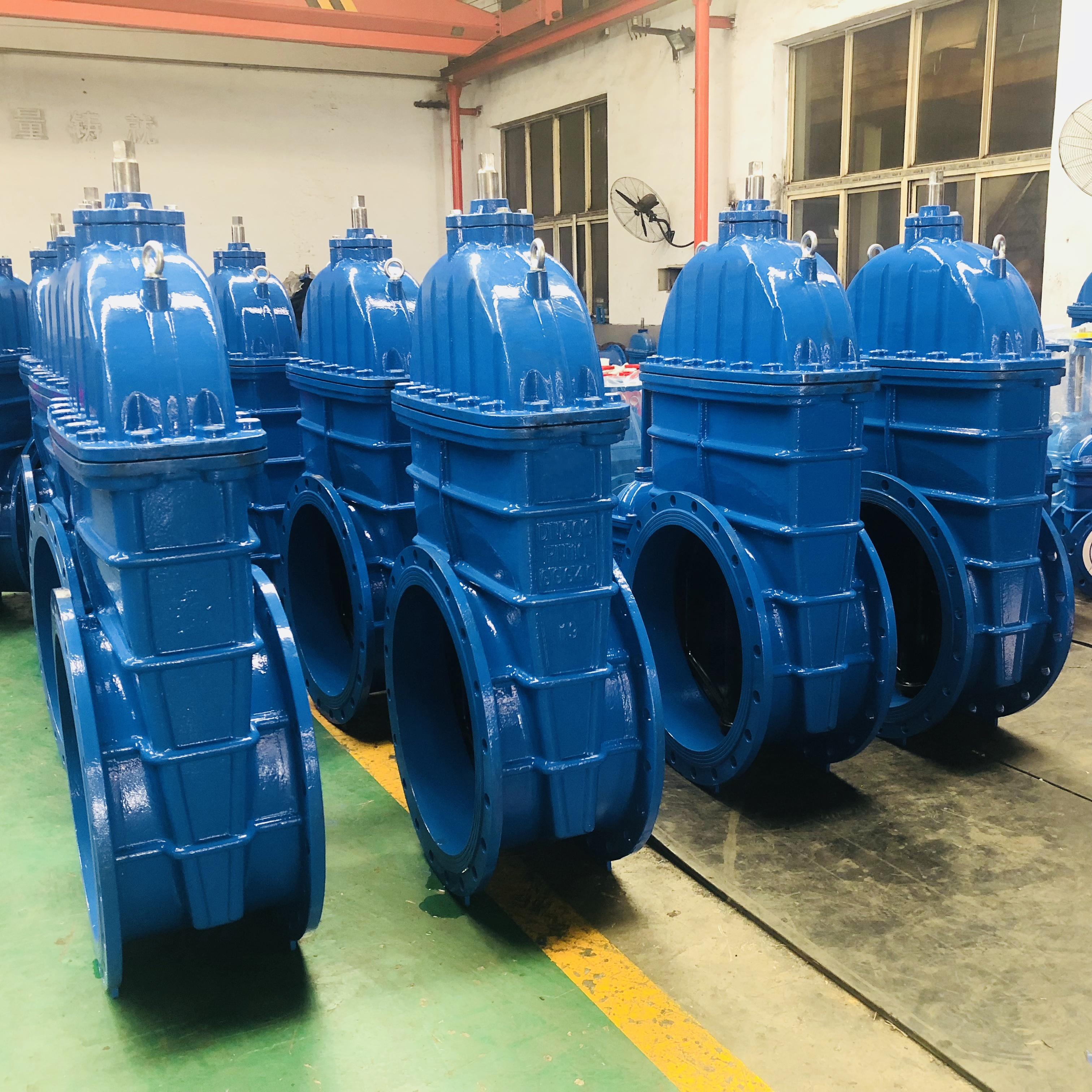 BS standard 24 inch DN600 ductile iron non-rising stem flange cast iron sluice gate valve