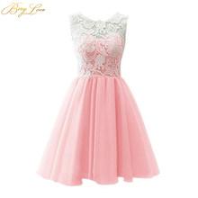 Короткое платье для выпускного вечера BeryLove, Мятное, розовое, милое мини-платье для выпускного вечера, коктейльное платье для выпускного веч...(Китай)