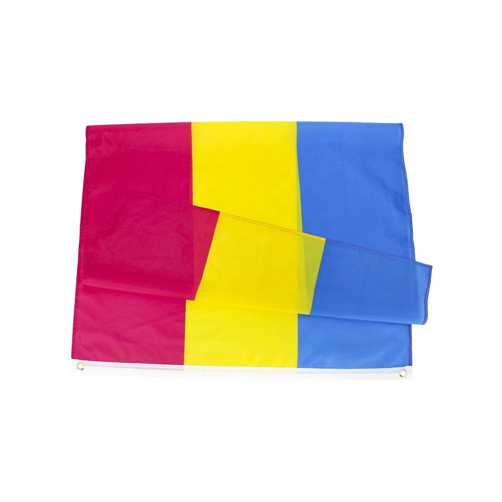 Оптом в наличии 3x5 футов 90x150 см ЛГБТ Пан гордость омнисексуал пансексуал флаг