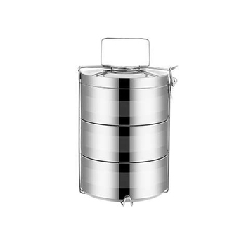 Stainless steel storage containers for food bento box 4 layers metal lunch tiffin box food warmer for home school office