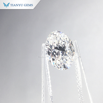 Tianyu Gems Wholesale Price Diamond Oval cut DEF VS Clarity 2CT Lab Grown HPHT/CVD Loose Diamond
