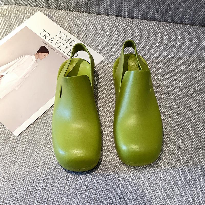 Садовые сабо из ПВХ для женщин, водонепроницаемые Сабо зеленого цвета для девушек, новый стиль